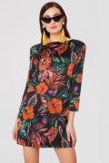 MANGO Floral Pattern Dress - Multicolor
