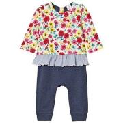 GAP Little Artist Triple-Layer One-Piece Multi Floral 0-3 Months