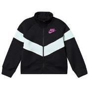 NIKE Heritage Crop Track Jacket Black/Green XS (6-8 years)