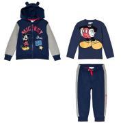 Paketti Disney® Mickey Mouse Collegepuku + Pitkähihainen Paita Sininen
