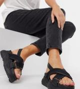 Selected Ollie Chunky Sandals in Black