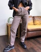Selected Femme straight leg jeans in brown