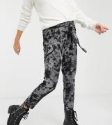 ASOS DESIGN Maternity rib peg trouser in tie dye print-Multi